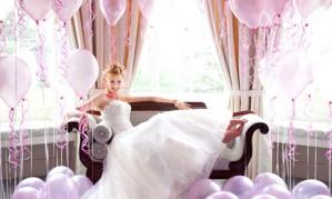 Идеи свадебного оформления воздушными шарами[150]